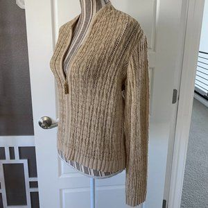 St. John Collection Knit Zip Front Cardigan